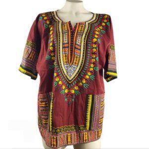 NWOT BIG MAMA 2 front pockets shirt 100% Cotton